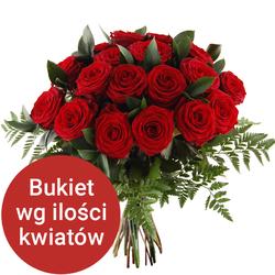 Bukiet 65 róż Telekwiaciarnia